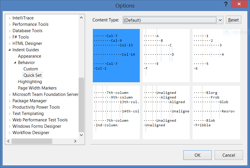 Indent Guides options page