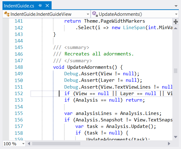 Indent Guides for Visual Studio